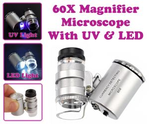 Buy Gadget Hero's World Smallest Microscope 60x With Uv & LED Magnifier online
