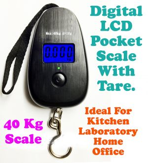 Buy Gadget Hero's 40kg Digital LCD Pocket Portable Hanging Kitchen Weight online