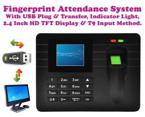 Buy Gadget Hero's Biometric Fingerprint Based Time & Attendance Machine With Indicator online