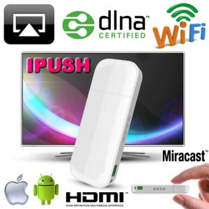 Buy Gadget Hero's Ipush WiFi Dlna / Miracast / Airplay Media Sharing Hdmi online