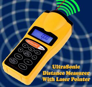 Buy Gadget Hero's Ultrasonic Distance Measure Meter With Laser Pointer online