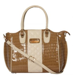 ESBEDA Beige Color Solid Women's Handbag