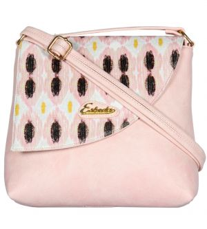Esbeda Light Pink Color Graphic Print Pu Synthetic Women's Slingbag