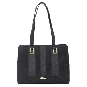 Buy Esbeda Black Color Pu Synthetic Handbag For Women's Black (product Code - 1613) Black online