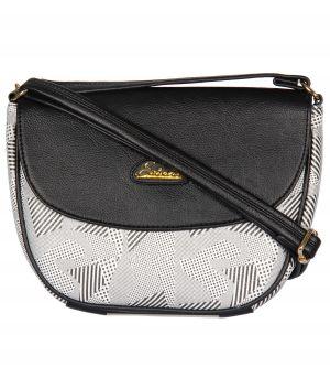 ESBEDA Black Color Graphic Print Sling Bag For Womens_1661