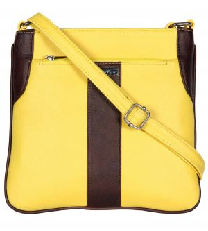 Buy Esbeda Yellow Color Pu Synthetic Slingbag For Womens online