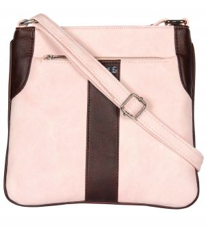 Buy Esbeda Light Pink Color Pu Synthetic Slingbag For Womens online