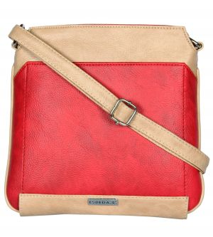 Buy Esbeda Red Color Pu Synthetic Slingbag For Womens online