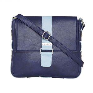 Buy Esbeda Dark Blue Color Solid Drymilk Slingbag For Women-1724 online