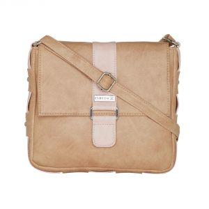 Buy Esbeda Beige Color Solid Drymilk Slingbag For Women-1725 online