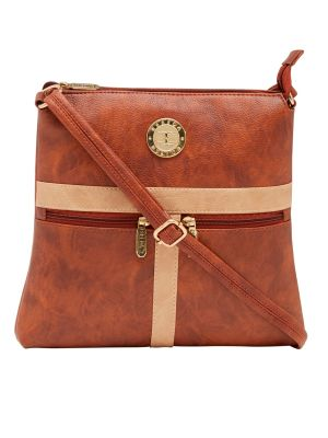 Buy Esbeda Tan Color Solid Pu Synthetic Material Slingbag For Women-1885 online