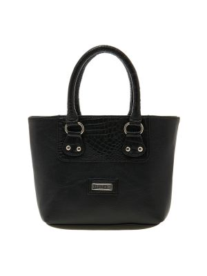 Buy Esbeda Black Solid Pu Synthetic Material Handbag For Women online