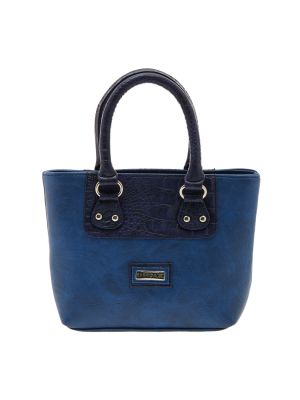 Buy Esbeda Blue Solid Pu Synthetic Material Handbag For Women online