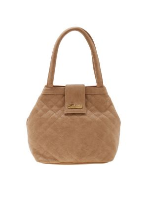 Buy Esbeda Beige Checks Pu Synthetic Material Handbag For Women-1920 online