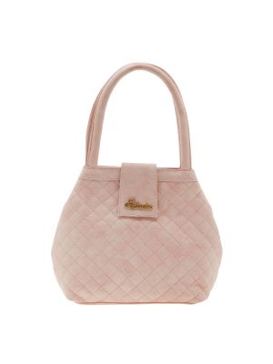 Buy Esbeda Pink Checks Pu Synthetic Material Handbag For Women online