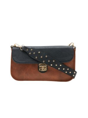 Buy Esbeda Brown Solid Pu Synthetic Material Slingbag For Women online