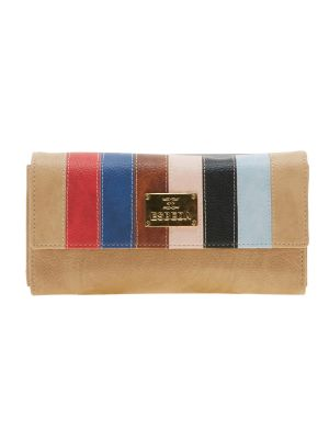 Buy Esbeda Beige Solid Pu Synthetic Material Wallet For Women-1974 (code - 1974) online