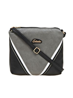 Buy Esbeda Black Solid Pu Synthetic Material Slingbag For Women online