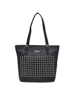 Buy Esbeda Black Polka Dots Pu Synthetic Material Handbag For Women(code-2171) online