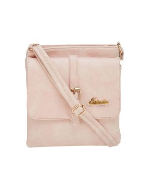 Buy Esbeda Pink Solid Pu Synthetic Material Slingbag For Women(code-2179) online