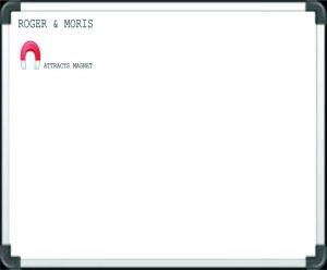 Buy Roger And Moris Magnetic White Board (2 Feet X 2 Feet) online
