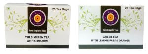 Buy Tulsi Green Tea With Cinnamon Green Tea With Lemongrass &orange 50 Tea Bags online