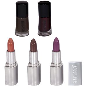 Buy Viviana Colour Special Lipsticks & Nail Paint Pack online