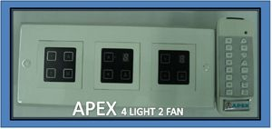 Buy Apex Remote Controlled Touch Switch Board For 4 Lights & 2 Fan online