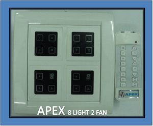 Buy Apex Remote Controlled Touch Switch Board For 8 Lights & 2 Fan online