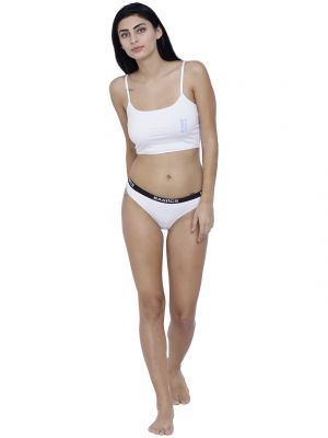 Buy White Basiics By La Intimo Womens Dulce Candy Brief Panty online