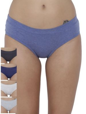 Buy Basiics By La Intimo Women's Coqueto Flirty Hipster Panty (Combo Pack of 5 ) online