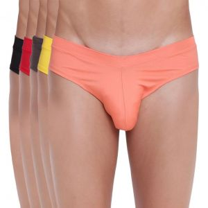 Buy Fanboy Style Brief Basiics by La Intimo (Pack of 5 ) online