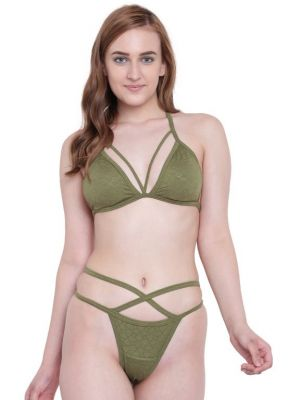 Buy La Intimo Beach Mania Bikini Olive Melange Resort/Beach Wear online