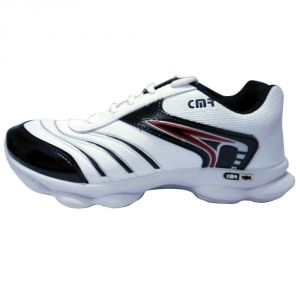 Camro Sports Cool White And Red Running Shoes
