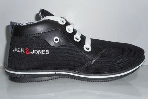 "Camro Black Canvas Sneakers For Men""s"