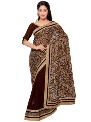 Buy Indian Women Brasso Multi Color Saree (code - Inwga20132-mm) online