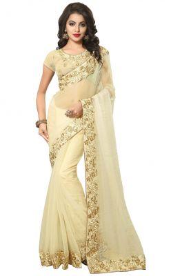 Buy Sudarshan Silks  Cream  Dupion Silk  Saree online