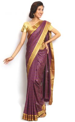 Buy Sudarshan Silks Purple Art Silk Saree online