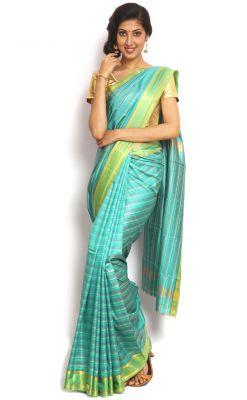 Buy Sudarshan Silks Blue Art Silk Saree-vsns5 online