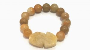 Buy Pi Yao With Yellow Jasper Bracelet For Protection Prosperity And Luck online