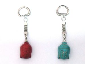 Buy Set Of 2 Budha Magnesite Key Ring Set online