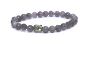 Buy Amethyst Buddha Stretch Bracelet ( 7 MM ) online