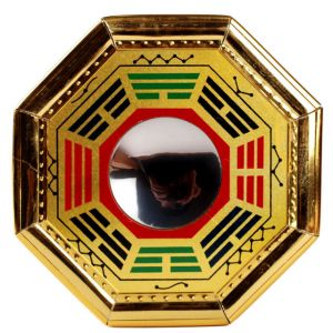 Buy Pakua Bagua Mirror With Stylish Border (big) (8 Inch) For Luck And Protection online
