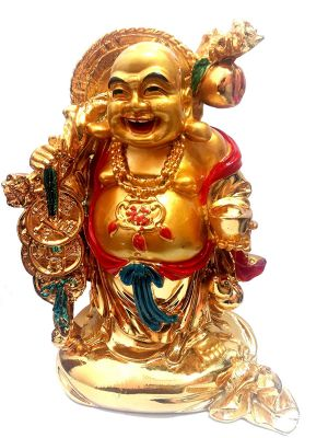 Buy Very Big Size Laughing Buddha Standing On A Money Bag For Good Luck & Prosperity online