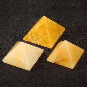 Yellow Aventurine Pyramid (15 Grams) (Crystal Healing) Pyramids Fengshui