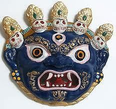 Buy Mahakaal Metal Wall Hanging Najarbatoo Evil Eye Protector Nepali Mask online