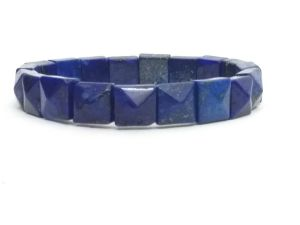 Buy Lapis Lazuli Pyramid Shaped Stretch Bracelet ( 10 MM ) online