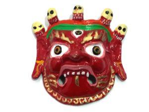 Buy Mahakaal Mask Evil Eye Protector Metal Wall Hanging ( 4 Inch), Najarbatoo, online