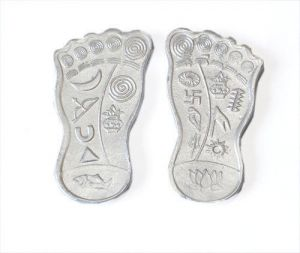 Buy Parad Shree Ma Laxmi Charan Paduka Small For Prosperity online