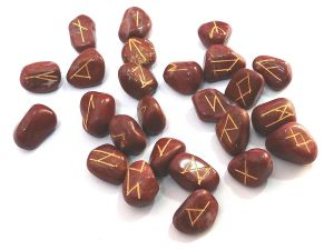 Buy Red Jasper Stone Tumbled Elder Futhark Rune Stones Set online